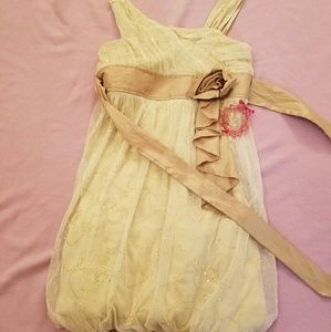 Cream & gold glitter dress sz16